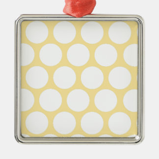 Yellow polka doty Silver-Colored square decoration
