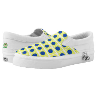 Yellow Polkadot Slip-On Shoes