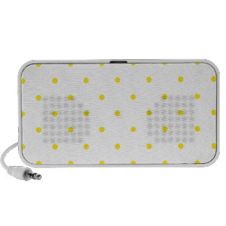 Yellow Polkadots Small Speakers