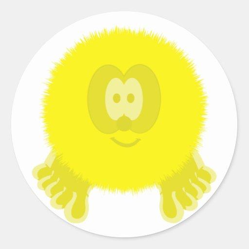 Yellow Pom Pom Pal Stickers