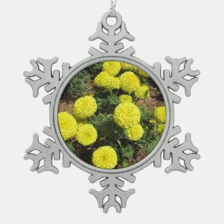 Yellow Pompom Marigolds Garden Plants Ornaments