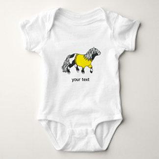 yellow pony baby vest baby bodysuit
