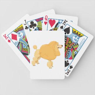 Yellow Poodle Dog Bicycle Card Decks