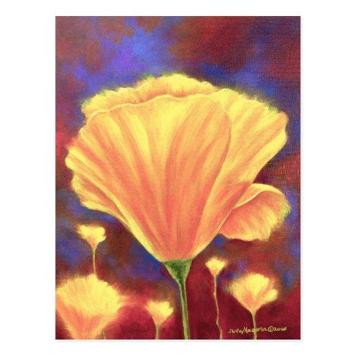 Yellow Poppies Painting Art - Multi Postcard