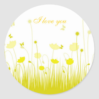 Yellow poppies Sticker