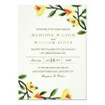 Yellow Poppies Wedding Invitation
