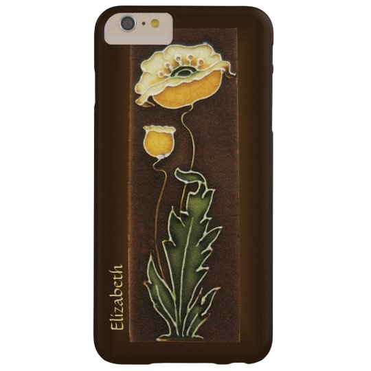 Yellow Poppy Aged Tile Look Barely There iPhone 6 Plus Case