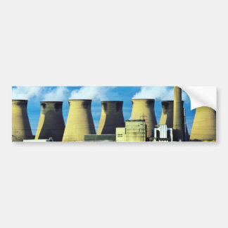 Yellow Poppy field and Ferrybridge power station, Bumper Sticker
