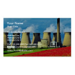 Yellow Poppy field and Ferrybridge power station, Business Card