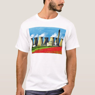 Yellow Poppy field and Ferrybridge power station, T-Shirt