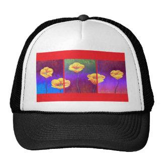Yellow Poppy Flower Painting - Multi Trucker Hats