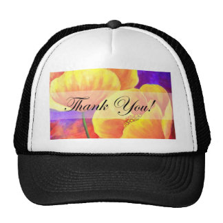 Yellow Poppy Flower Thank You Card Art - Multi Cap