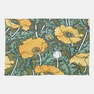 Yellow Poppy Tea Towel