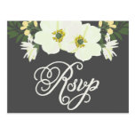 Yellow Pretty Anemones Floral RSVP II Postcard