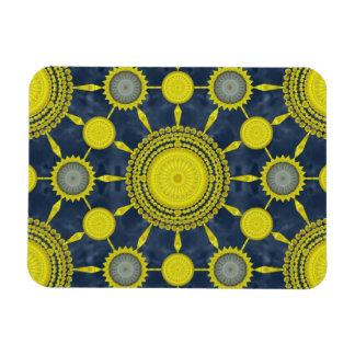 Yellow Prickly Pear Cactus Mandala Array Magnet
