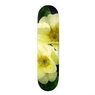 Yellow Primrose Closeup Skateboard