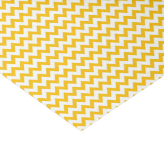 Yellow Print Glossy Tissue Paper