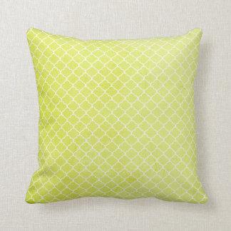 Yellow Print Throw Pillow