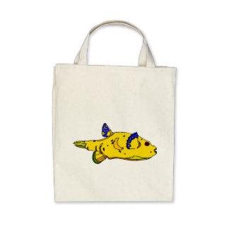 Yellow Puffer Fish Bags