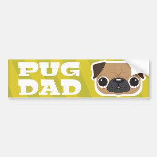 Yellow Pug Dad Bumper Sticker