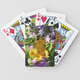 YELLOW PUMKIN FLOWERS BICYCLE PLAYING CARDS