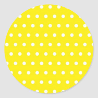 yellow pünktchen polka dots hots scores dab krei stickers