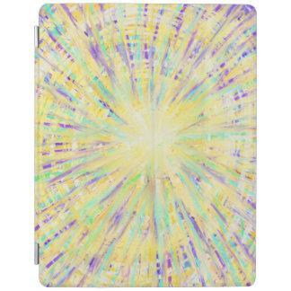 Yellow Purple Aqua Star Abstract Art Design iPad Cover