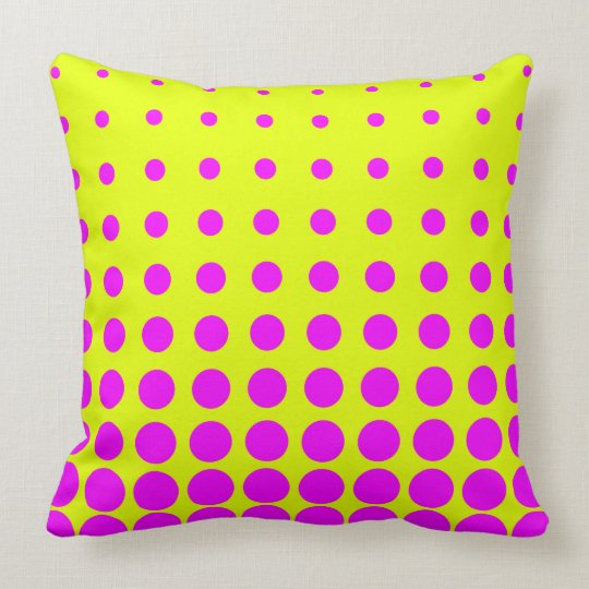 Yellow &  Purple Colourful Vector abstract dot Cushion