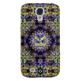 Yellow Purple Fractal Electricity K Samsung Galaxy S4 Cases
