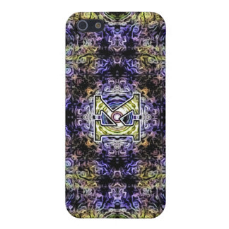 Yellow Purple Fractal Electricity K iPhone 5 Cases
