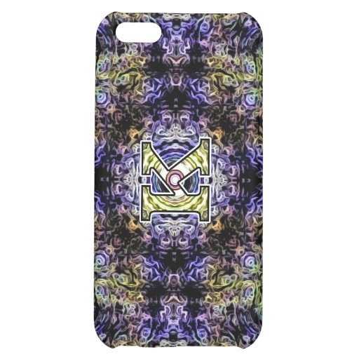 Yellow Purple Fractal Electricity K Case For iPhone 5C