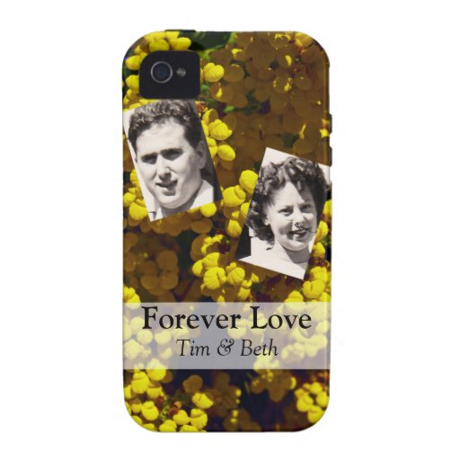 Yellow Purse Flowers iPhone 4 Covers