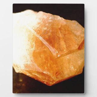 Yellow Quartz, Citrine Mineral Plaque