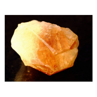 Yellow Quartz, Citrine Mineral Postcard