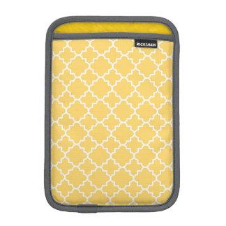 Yellow Quatrefoil Pattern iPad Mini Sleeve