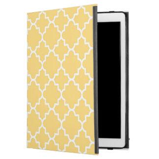 "Yellow Quatrefoil Pattern iPad Pro 12.9"" Case"