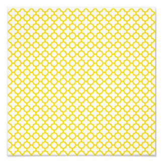 Yellow Quatrefoil Pattern Photo Print