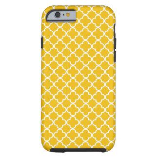 Yellow Quatrefoil Pattern Tough iPhone 6 Case