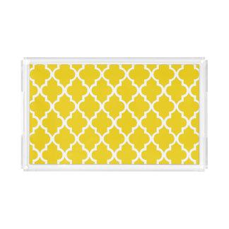 Yellow Quatrefoil Tiles Pattern