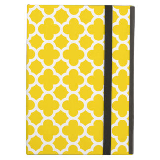 Yellow Quatrefoil Trellis Pattern iPad Air Case