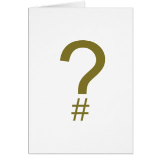 Yellow Question Tag/Hash Mark Card