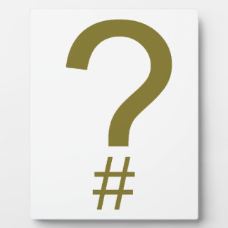 Yellow Question Tag/Hash Mark Plaque
