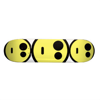 Yellow Questioning Smiley Face Skate Board