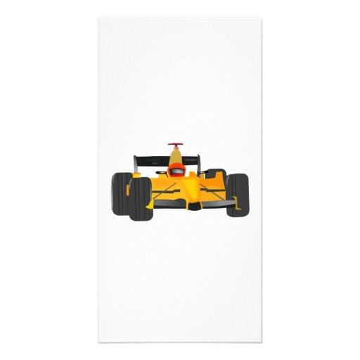 Yellow Racecar Photo Card
