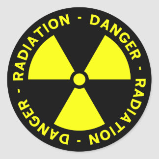 Yellow Radiation Symbol Sticker