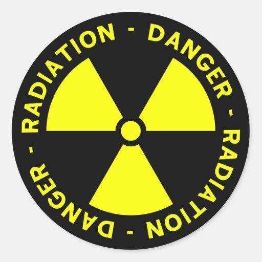 Yellow Radiation Symbol Sticker