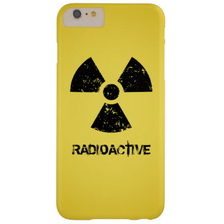 Yellow Radioactive Symbol Barely There iPhone 6 Plus Case