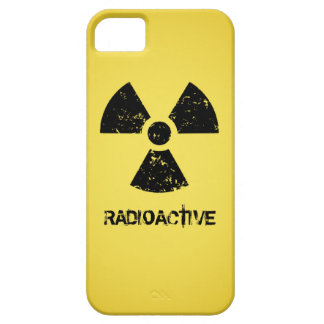 Yellow Radioactive Symbol Barely There iPhone 5 Case