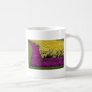 yellow Rainbow flowerbeds flowers Coffee Mugs