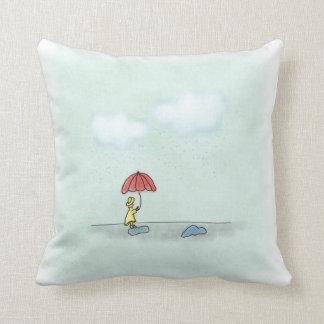 Yellow Raincoat Decor Pillow
